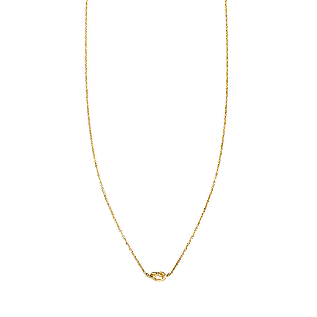 Image of Gold Love Knot Necklace