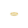Eternity pyramid stud ring for women