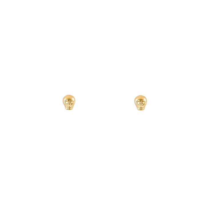 Image of Gold Skull Stud Earrings