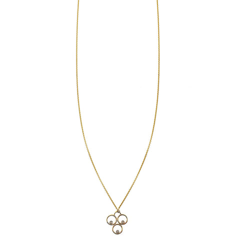 Gold Holy Trinity diamond pendant necklace