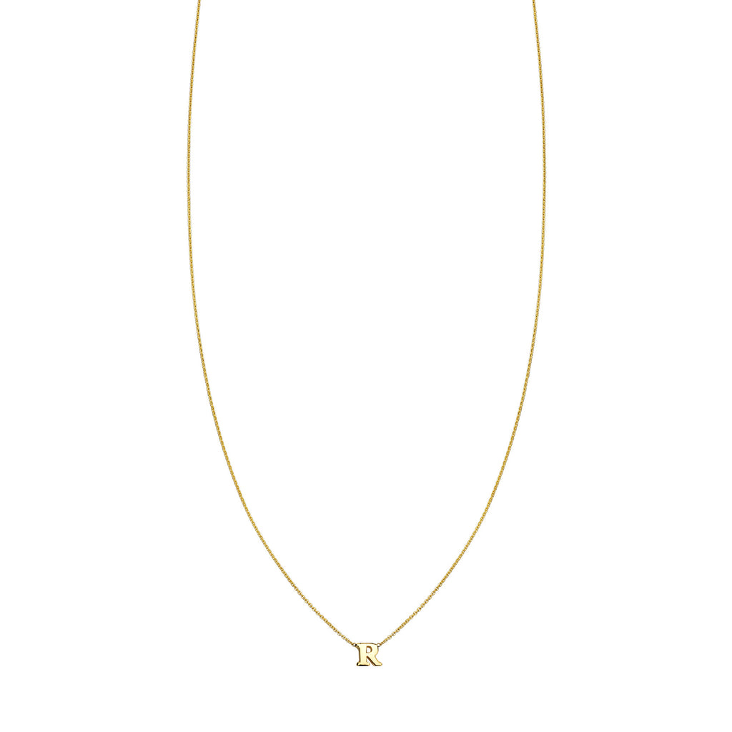 Image of hanging gold initial necklace