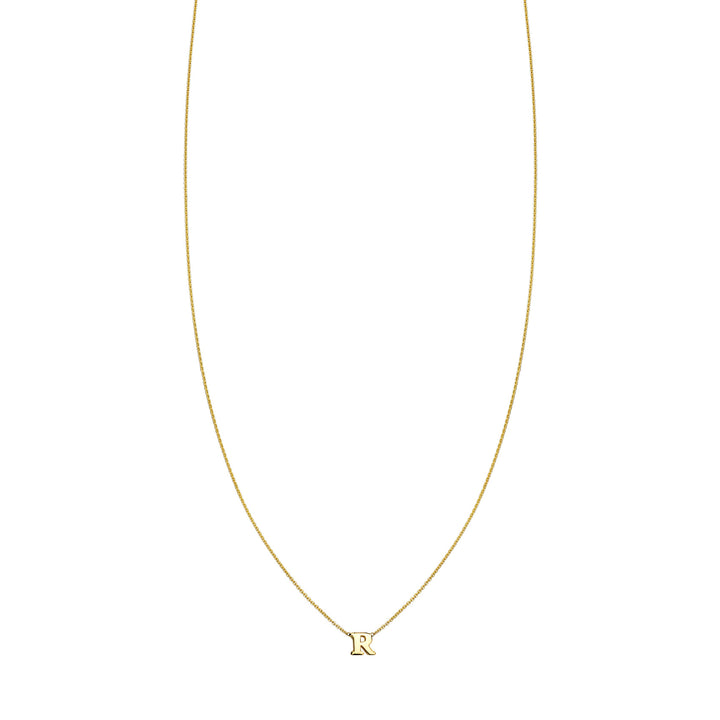 Image of 14K Gold Initial Necklace
