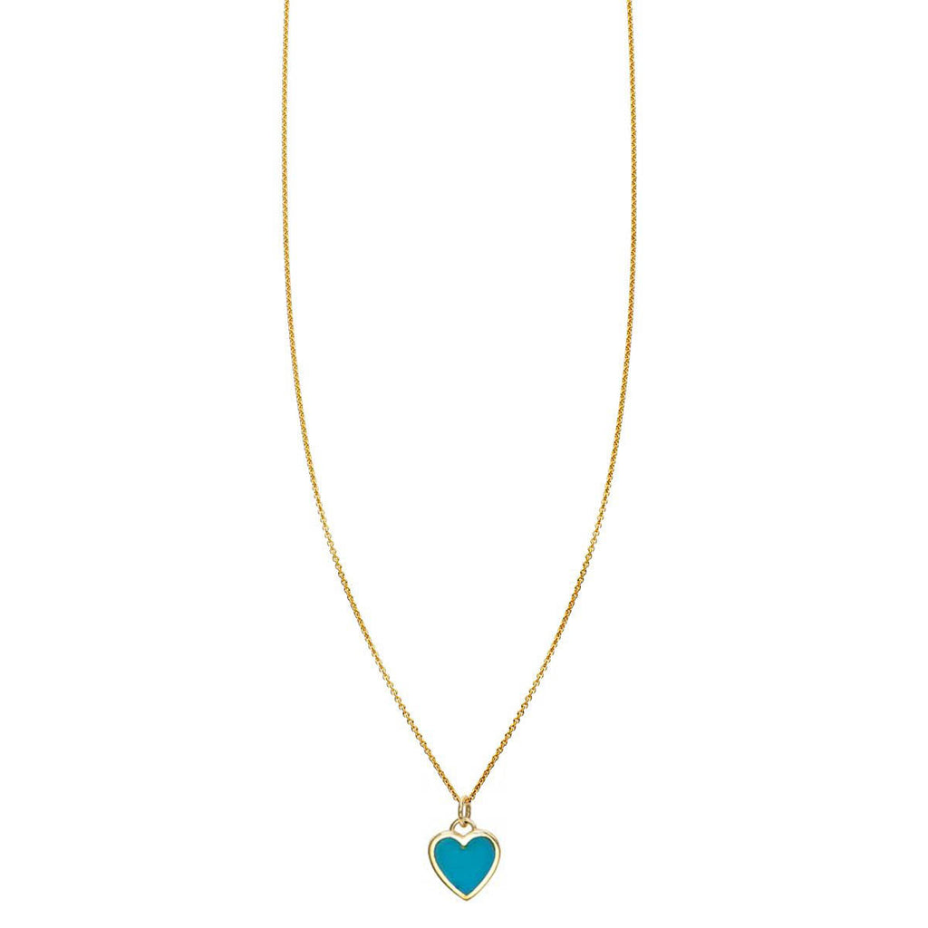 Image of Inay Turquoise Heart Necklace