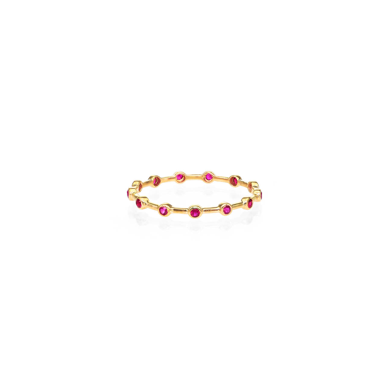 Image of Infinity Ruby Halo Band
