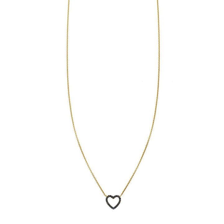Image of Keep Your Heart Open Black Diamond Necklace