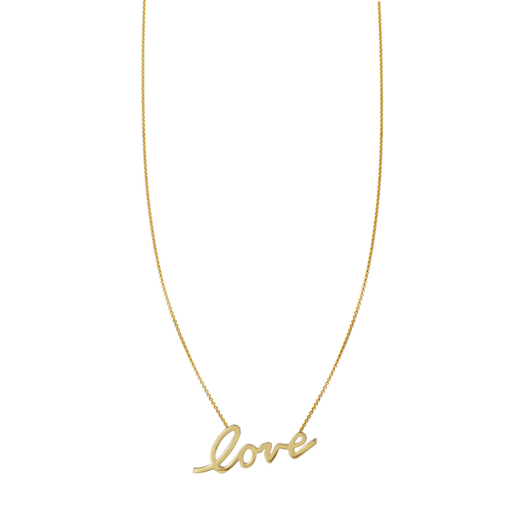 Large Cursive Love Necklace