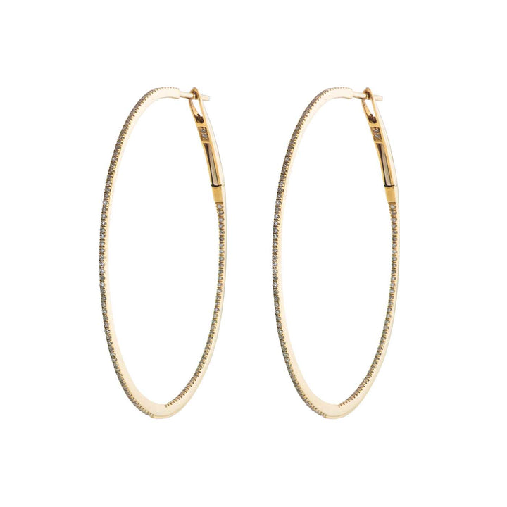 Image of Large Gold & Diamond Hoops