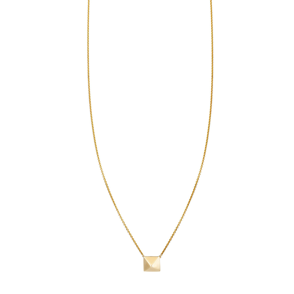 Large Gold Pyramid Necklace