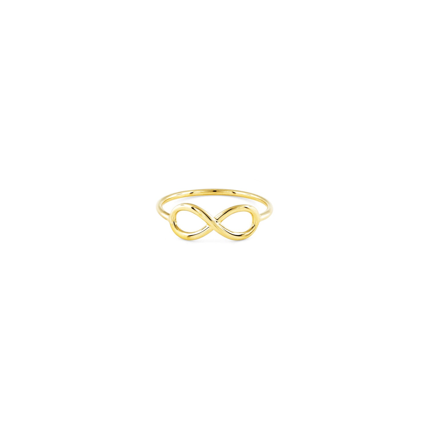 Gold infinity signs women's charm ring