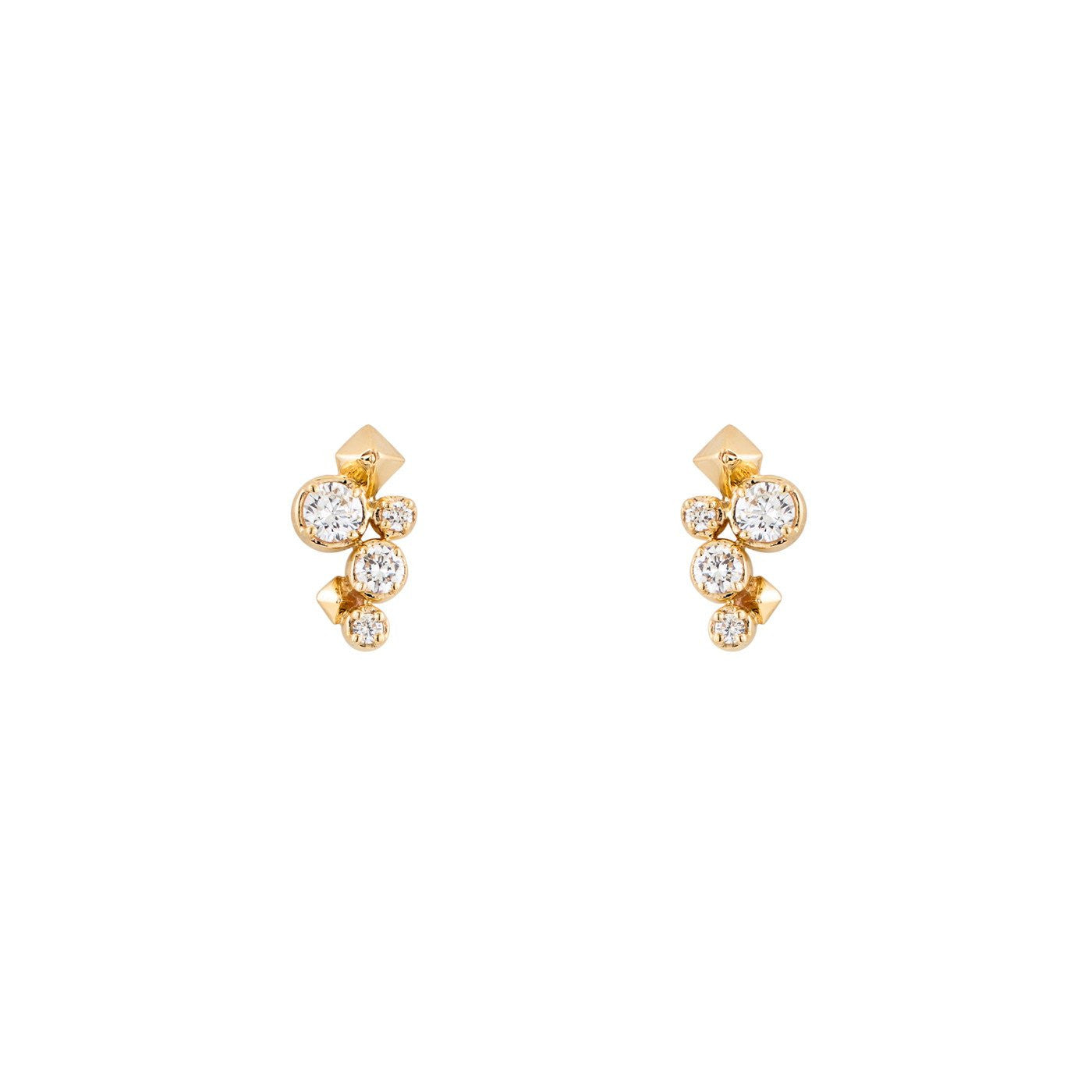 Image of Large Spike & Ice Stud Earrings