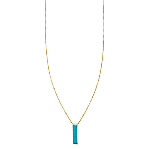Image of Large Turquoise Bar Necklace