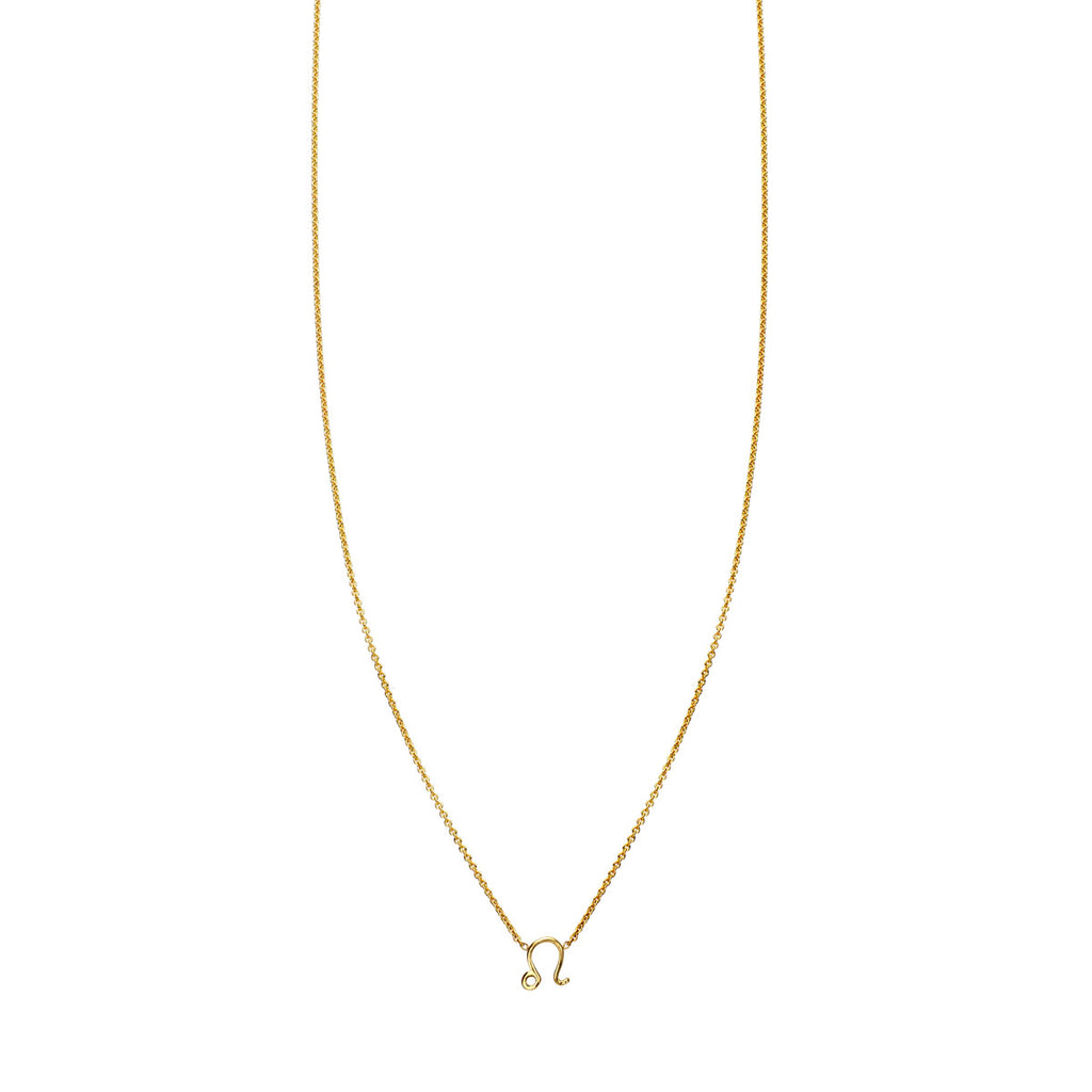Image of Leo Gold Zodiac Necklace