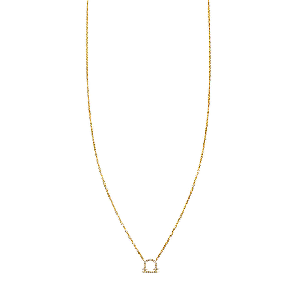 Image of Libra Diamond Zodiac Necklace