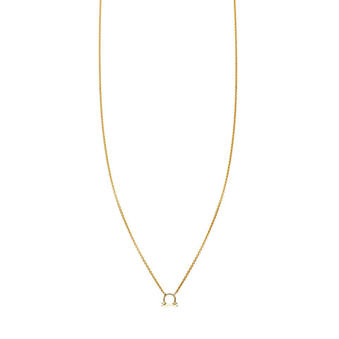 Image of Libra Gold Zodiac Necklace