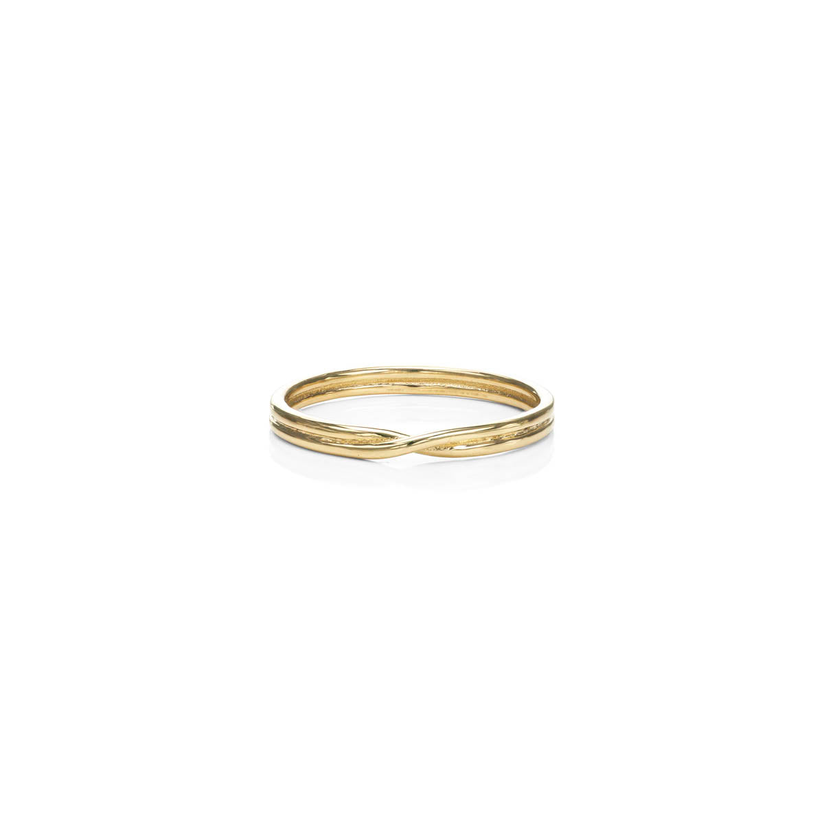 Minimalist Crossover Gold Ring