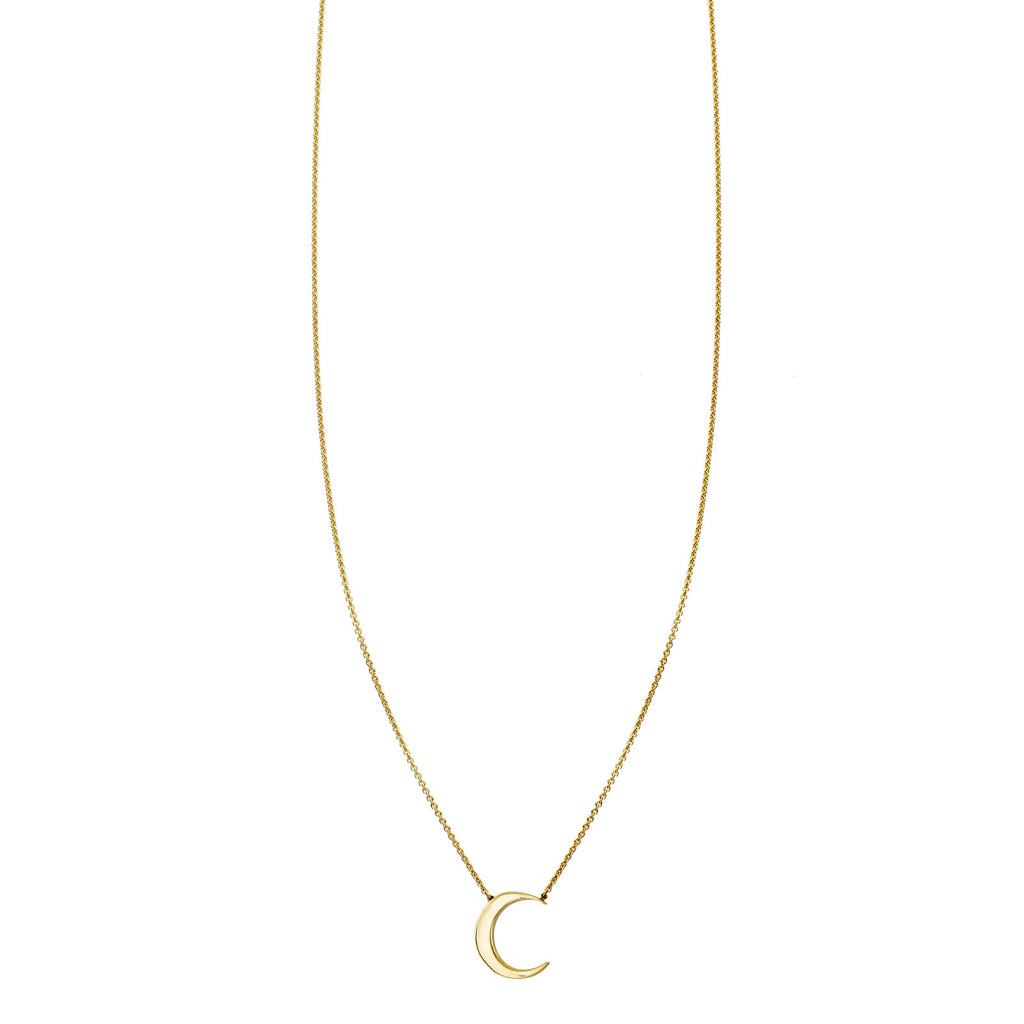 Image of a Gold Moon Necklace