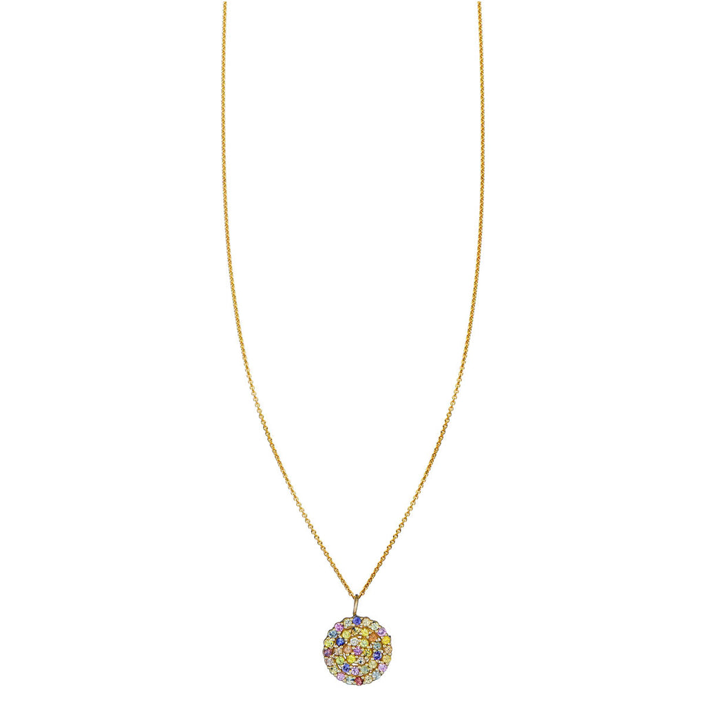 Image of Multicolor Sapphire Mandala Necklace