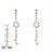 Image of Multicolor Sapphire Star Pendulum Earrings Measurement
