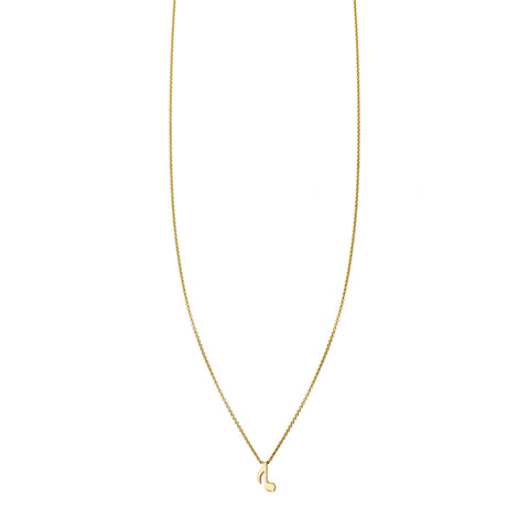 Musical Note Gold Necklace