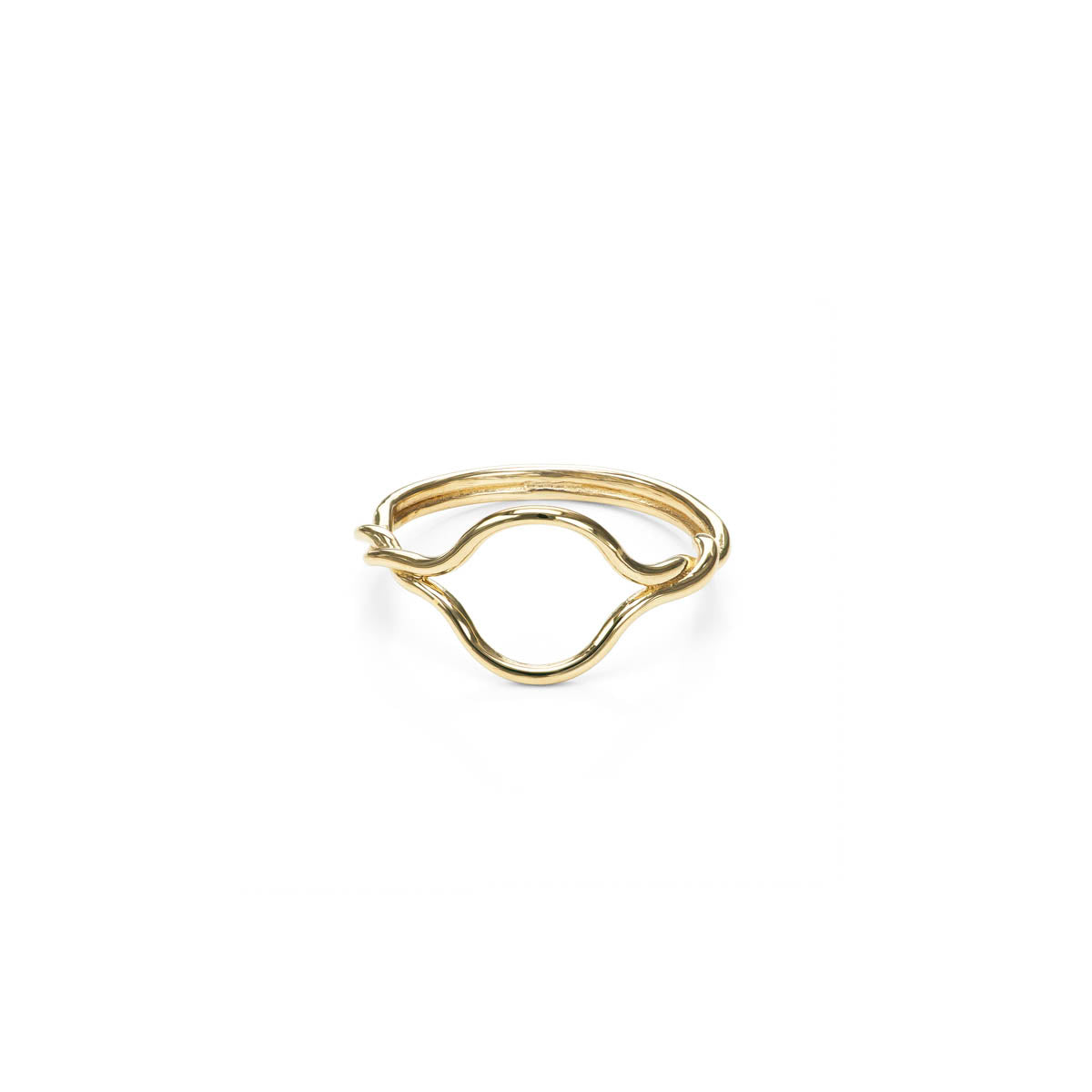 Open Twist Gold Ring
