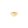 Gold signet women's ring