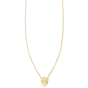 Panther Shield Gold Necklace - Phoenix Roze