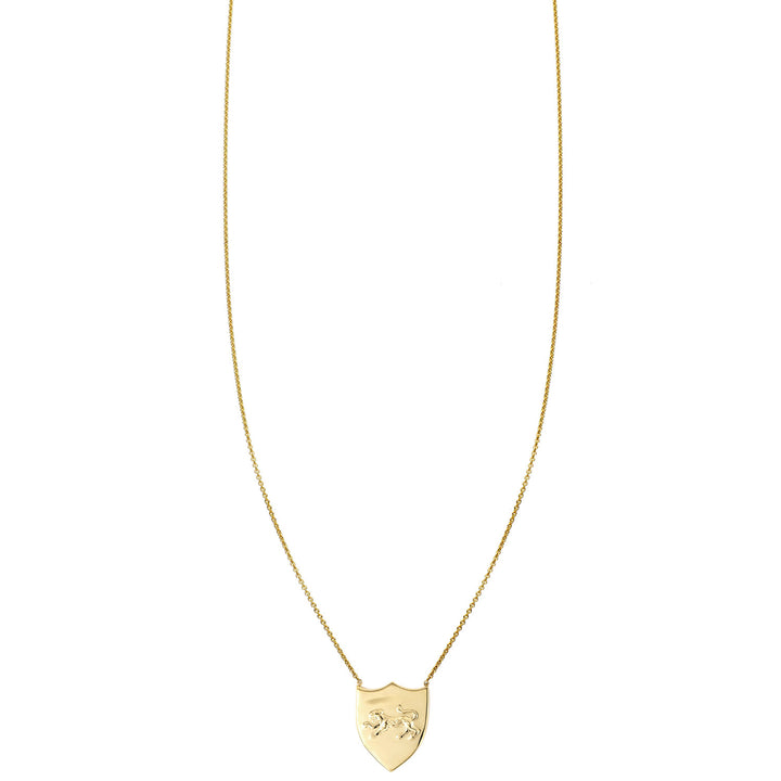 Image of Panther Shield Gold Necklace