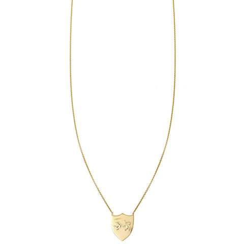 Panther Shield Gold Necklace