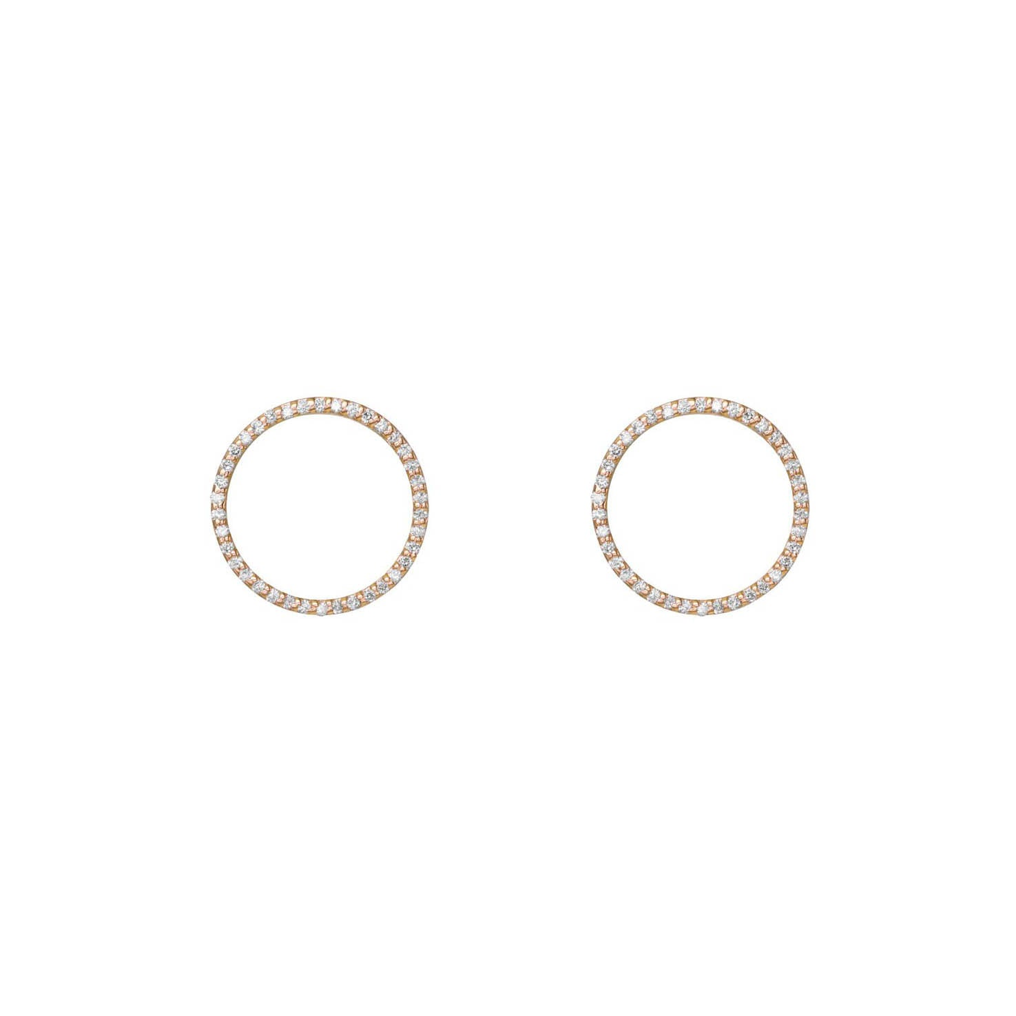 Image of Pave Diamond Hoops