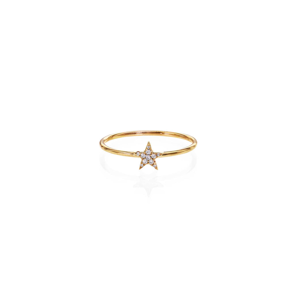 Image of Pave Diamond Star Ring