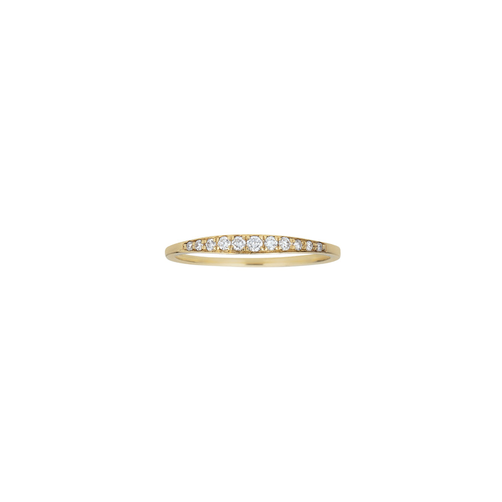Pave Diamond Tapered Band