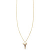 Diamond pave' shark tooth charm pendant necklace