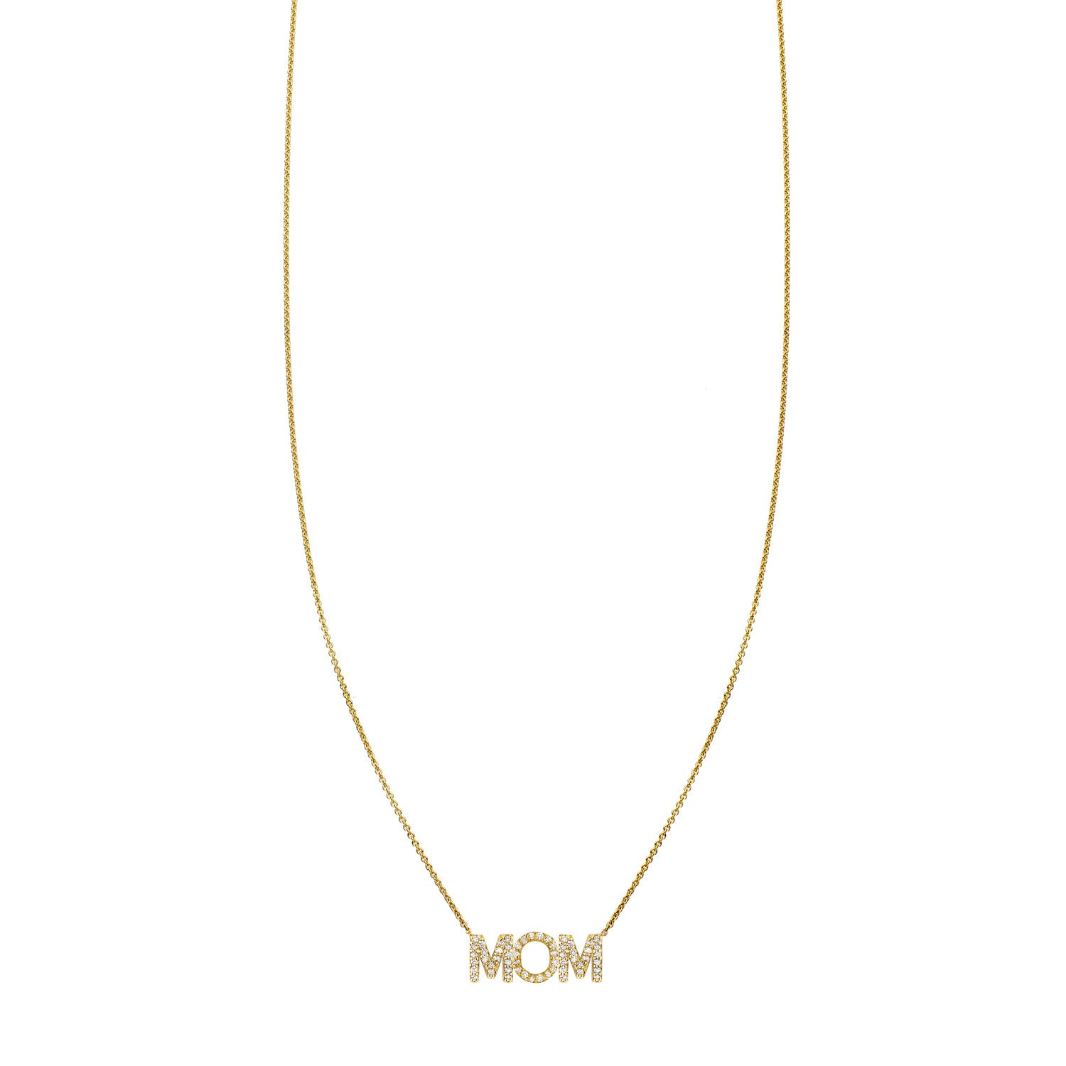 Pave Mom Necklace