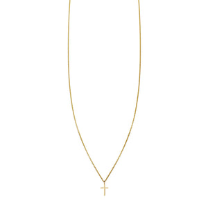Tiny Cross Gold Necklace - Phoenix Roze