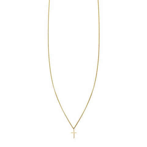 Tiny Cross Gold Necklace
