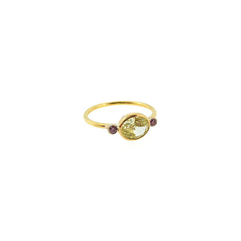 Image of Yellow & Pink Diamond Ring