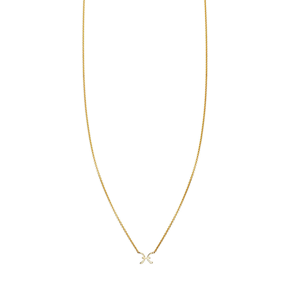 Image of Pisces Gold Zodiac Necklace