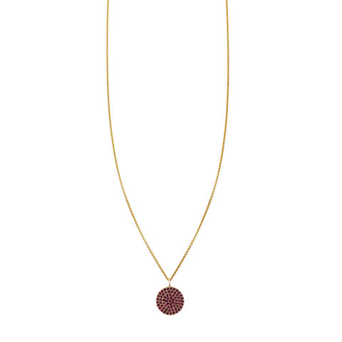 Image of Red Ruby Medallion Necklace