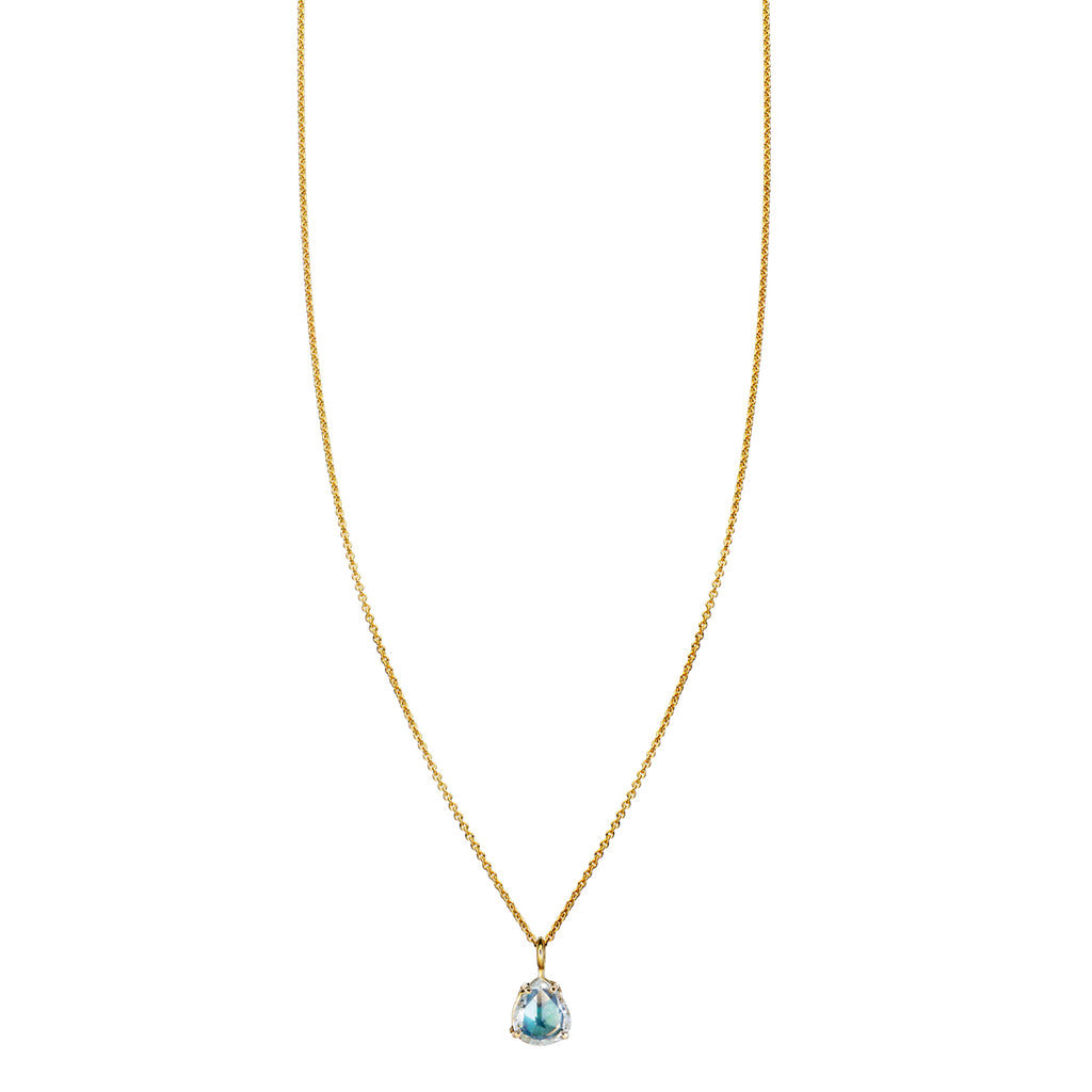 Rose Cut Diamond & Opal Inlay Necklace