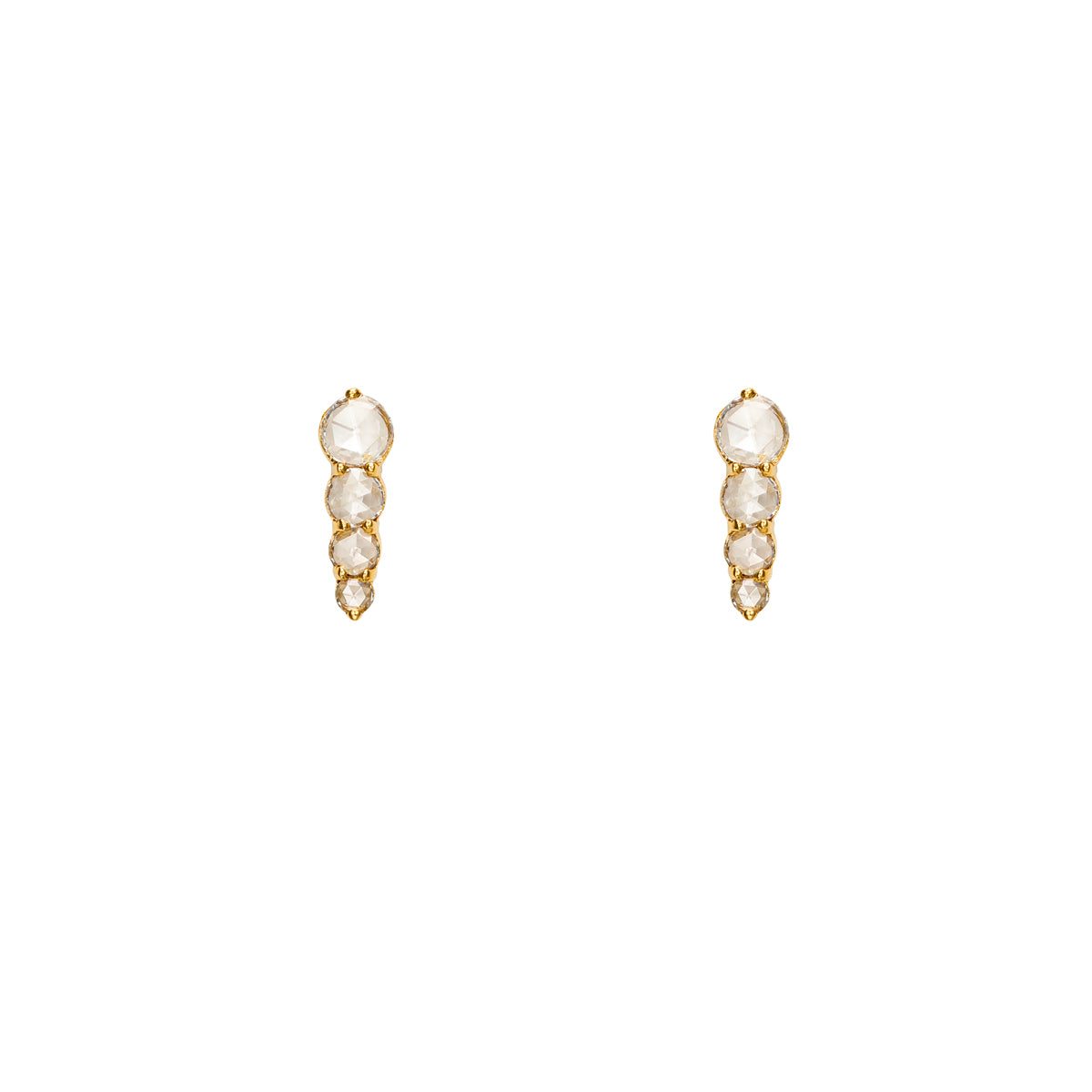 Rose Cut Diamonds Drop Earrings