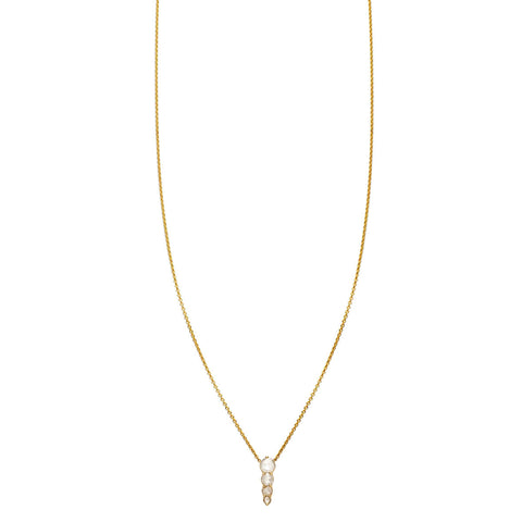 Image of Rose Cut Diamonds Drop Necklace