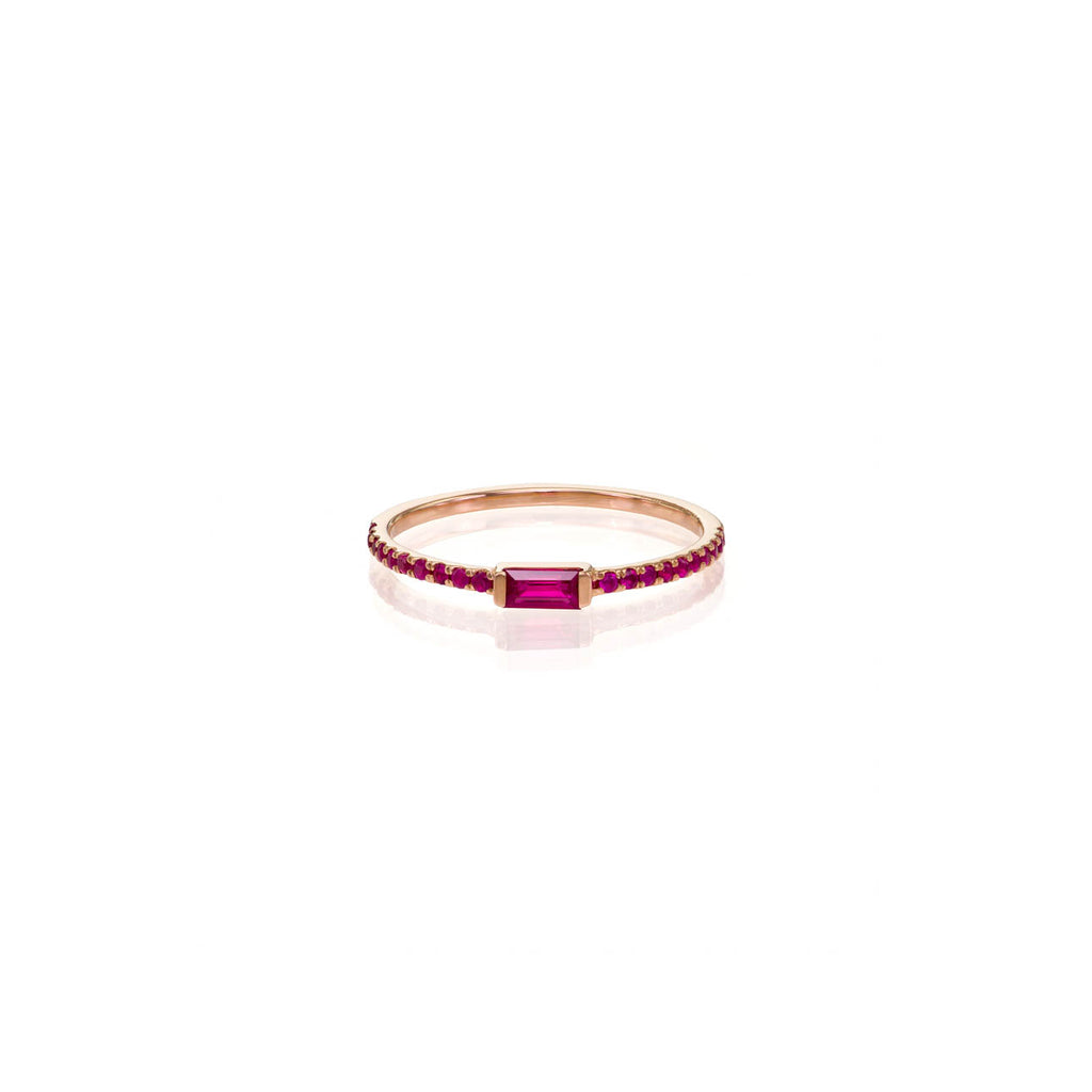 Image of Ruby Baguette Ring