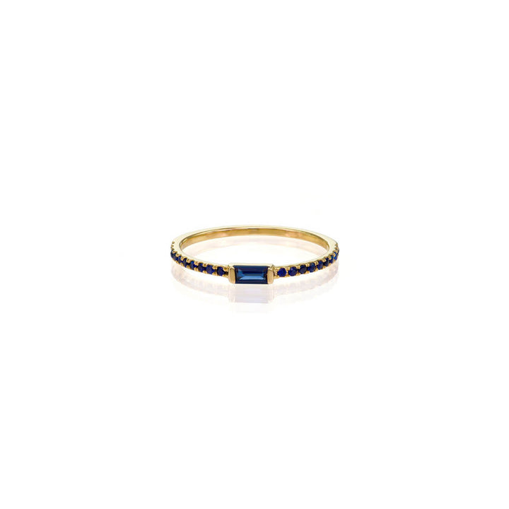 Image of Sapphire Baguette Ring