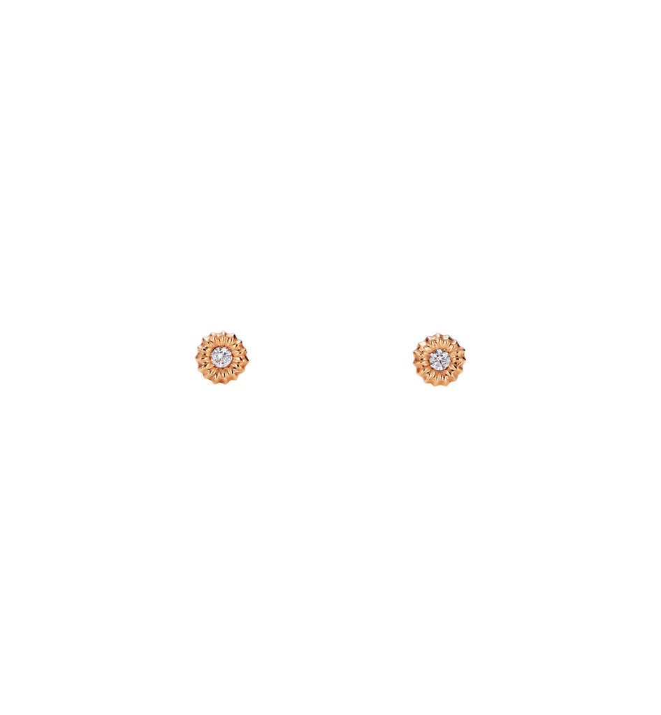 Seed & Diamond Stud Earrings
