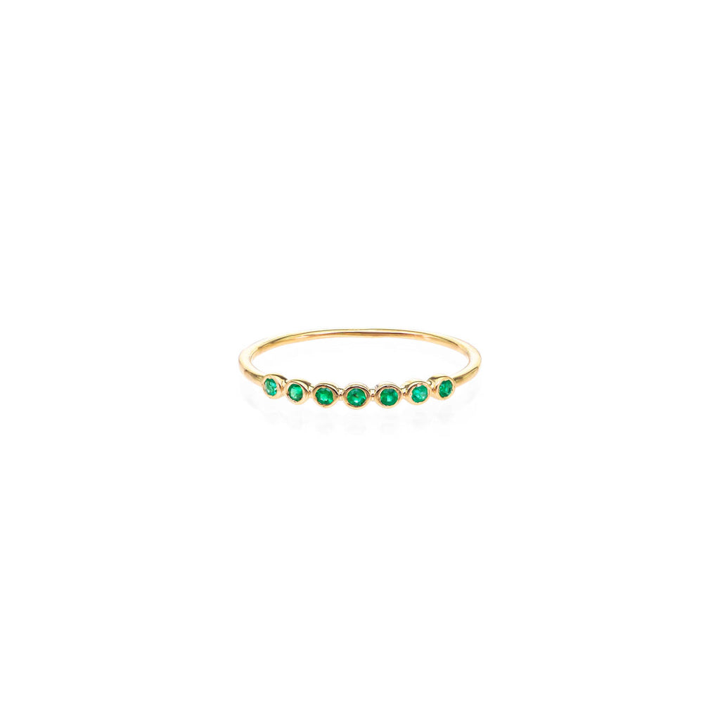 Image of Seven Emerald Stackable Band
