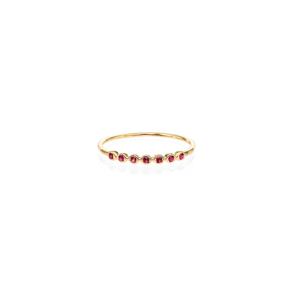 Image of Seven Ruby Stackable Band