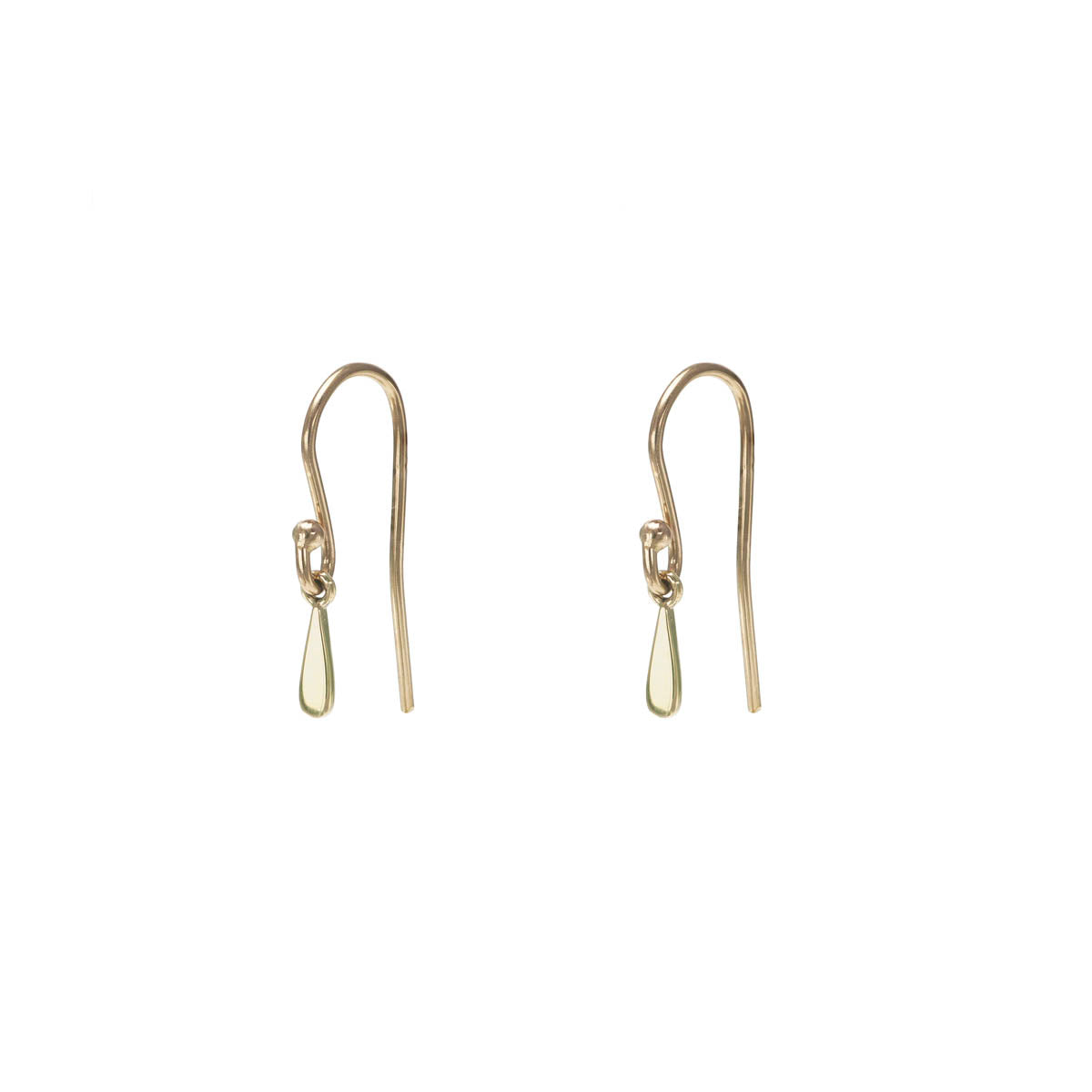 Image of Single Drip Drop Gold Earring