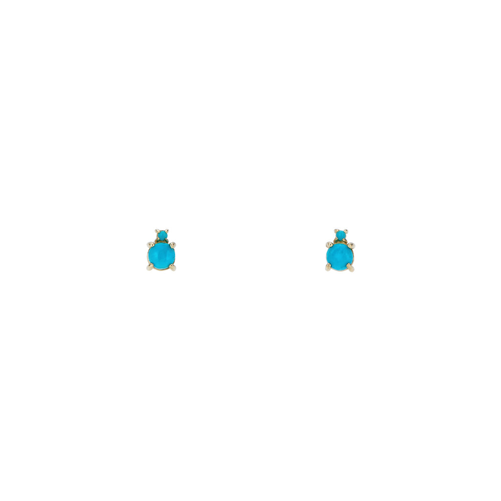 Turquoise Bubble Stud Earrings