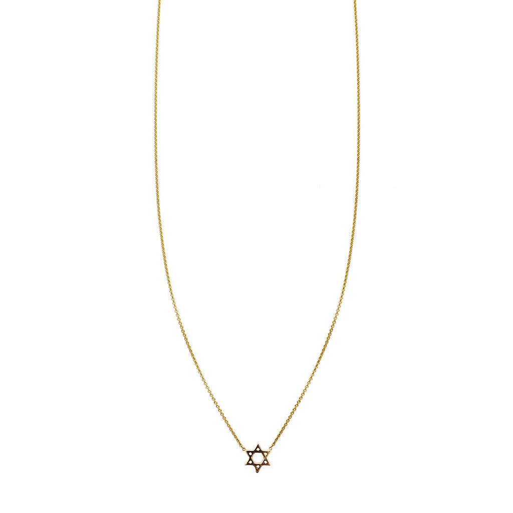 Gold Star of David charm pendant
