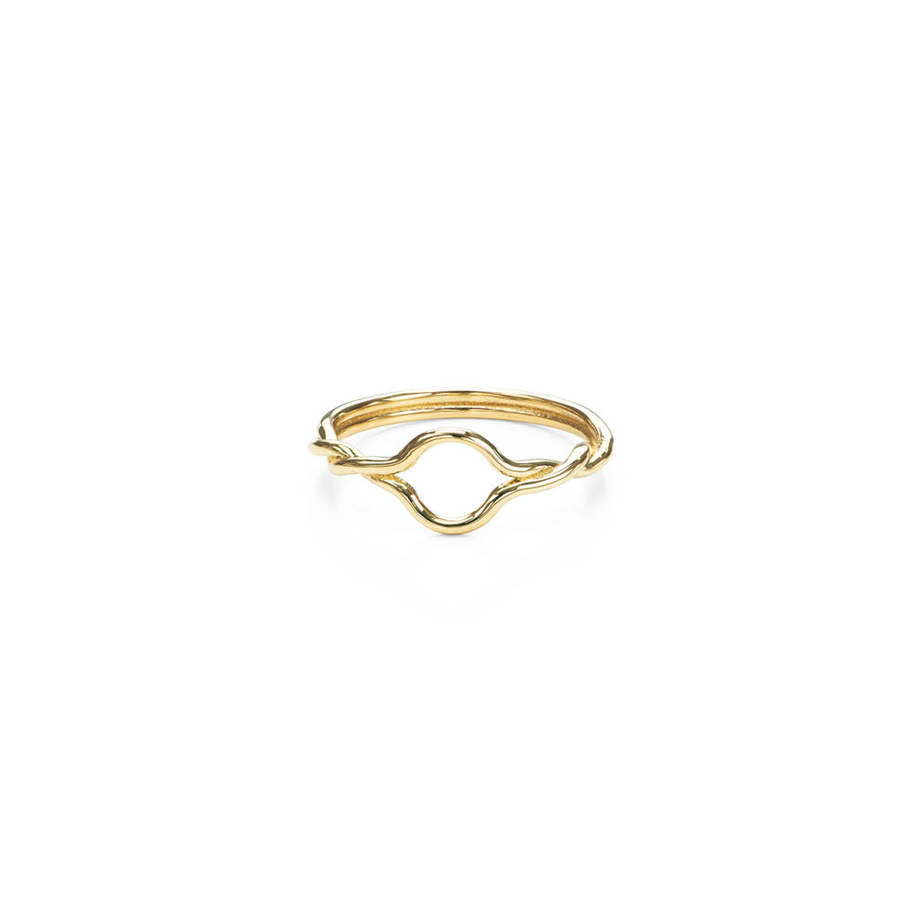 Small Open Twist Gold Ring